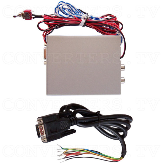 Dual Video (PAL or NTSC) to RGB Converter with 12v Relay Switch - Full Kit