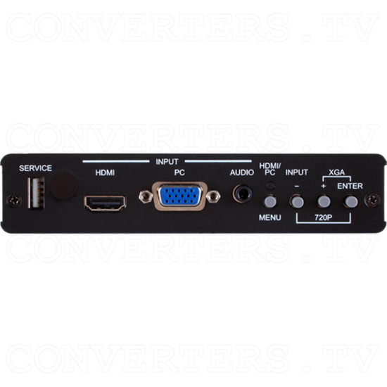 HDBaseT HDMI & VGA Video Scaler Over CAT5e/6/7 Transmitter w/ LAN/IR/RS-232/bi-dir PoE - Front View