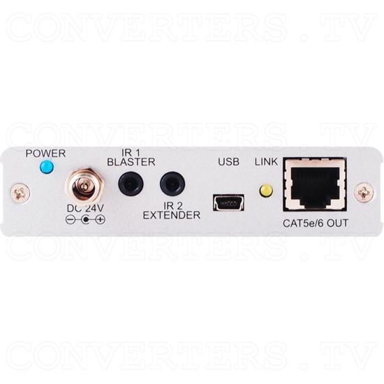 HDBaseT 1x2 HDMI over CAT5e/6/7 Transmitter-Splitter - Back View