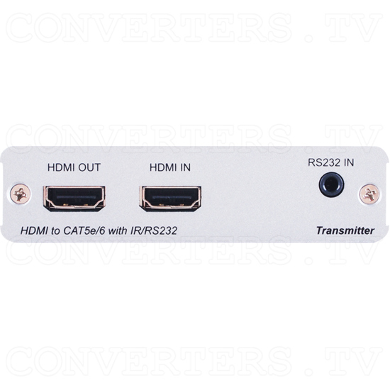 HDBaseT-Lite 1x2 HDMI over CAT5e/6/7 Transmitter w/HDMI Bypass/IR/RS-232 - ID#15117 Front View.png