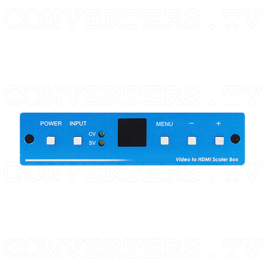 SV/CV to HDMI Scaler - Front View