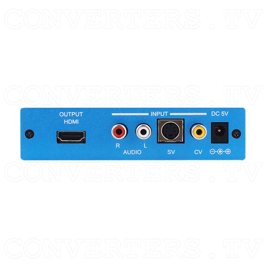 SV/CV to HDMI Scaler - Back View