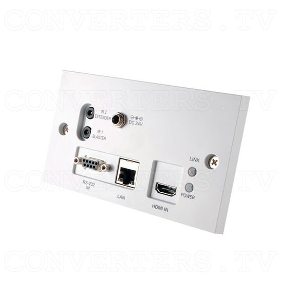 HDMI over CAT5e/6/7 Wall-plate Transmitter and Receiver - Full View