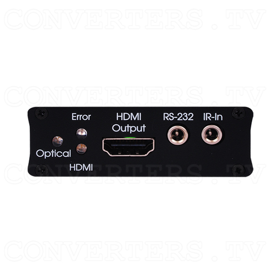 HDMI over Optical Fibre Transmitter & Receiver Kit - Front View