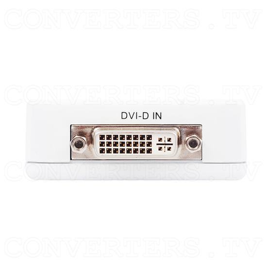 DVI-D to PAL NTSC Composite Video Scan Converter - Back View