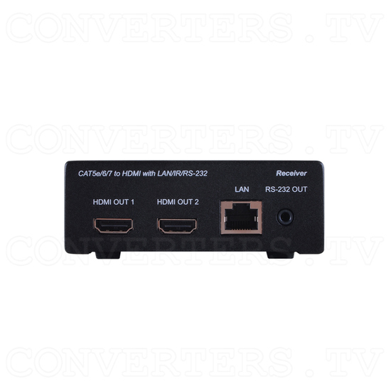 HDBaseT Dual HDMI Output over Single CAT5e/6/7 Receiver - Front View