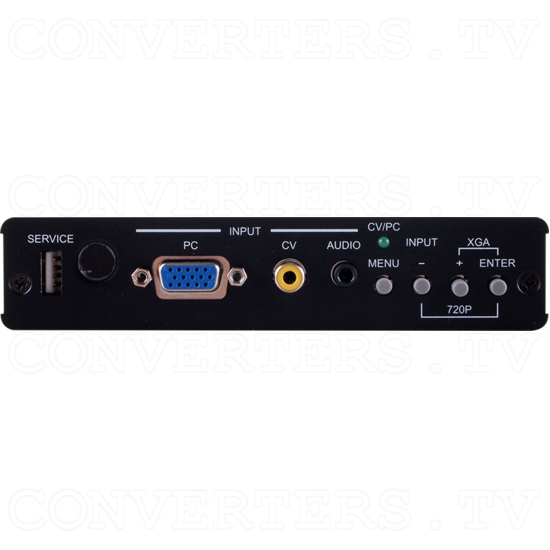 HDBaseT PC/CV to HDMI Scaler Format Converter over CAT5e/6/7 Transmitter (with 5 Play Convergence) - ID#15224 Front View.png