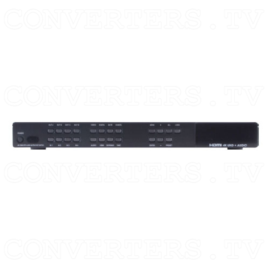 4×4 HDMI UHD and Audio Matrix with Fast Switching - Front View