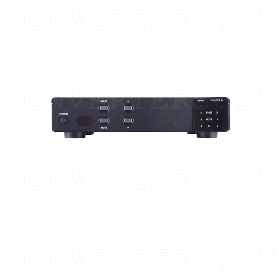 4 x 1 HDMI UHD Switcher with Fast Switching and Control System - Front View