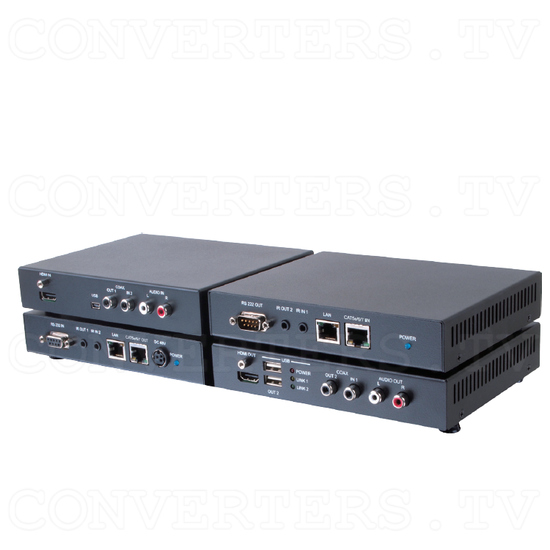HDBaseT HDMI and Audio over CAT5e/6 /7 Cable with 48V PoE - Full View