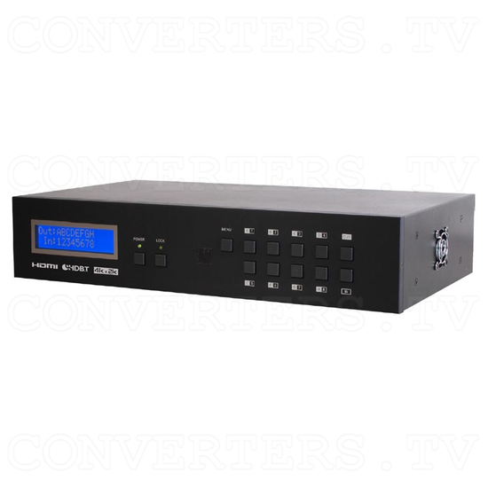 HDBaseT 8x8 UHD HDMI over CAT5e/6/7 Matrix with LAN HDCP 2.2 - Full View