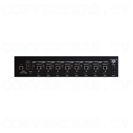 HDBaseT 8x8 UHD HDMI over CAT5e/6/7 Matrix with LAN HDCP 2.2 - Back View