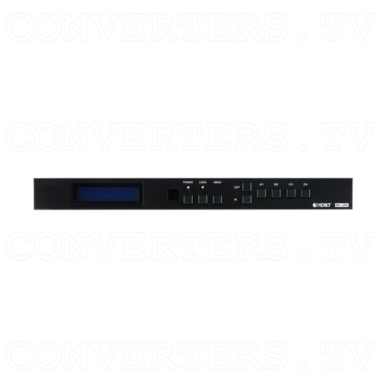 HDBaseT 4x4 UHD HDMI over CAT5e/6/7 Matrix with LAN Serving - Front View