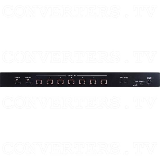 HDBaseT-Lite 1x7 over HDMI and CAT5e/6/7 Splitter - ID#15116 Rear View.png