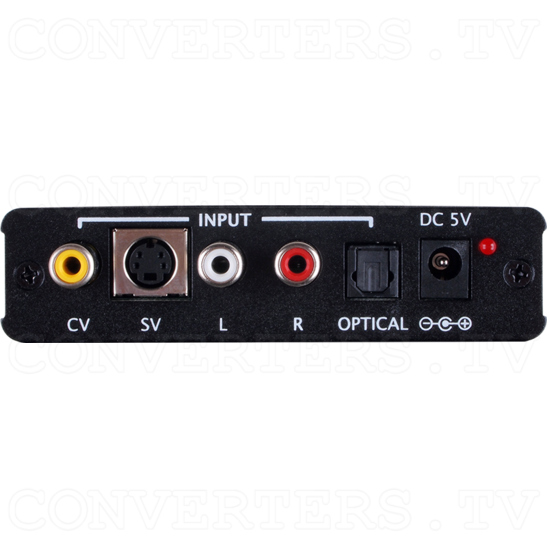 Composite S-Video to HDMI 1080p Scaler Format Converter - Back View