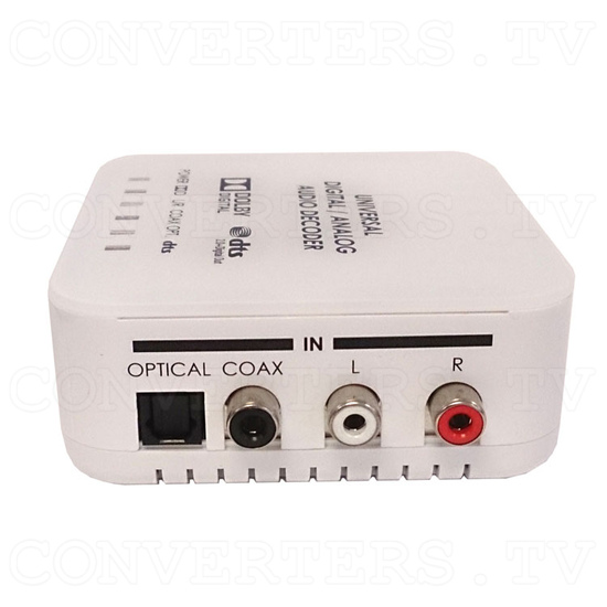 Universal DAC Audio Converter with Dolby and DTS Decoder - Left View