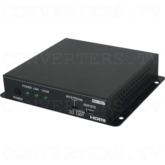 6G HDMI Two Channel Audio Extractor - Full View