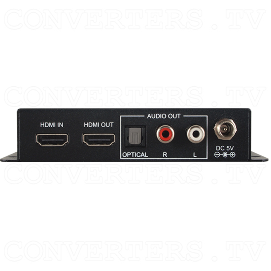 6G HDMI Two Channel Audio Extractor - Back View