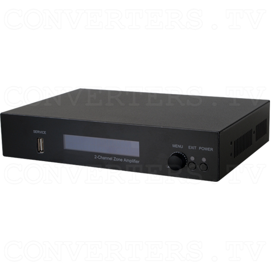 Integrated Zone Amplifier 2 Channel with HDBaseT - Full View