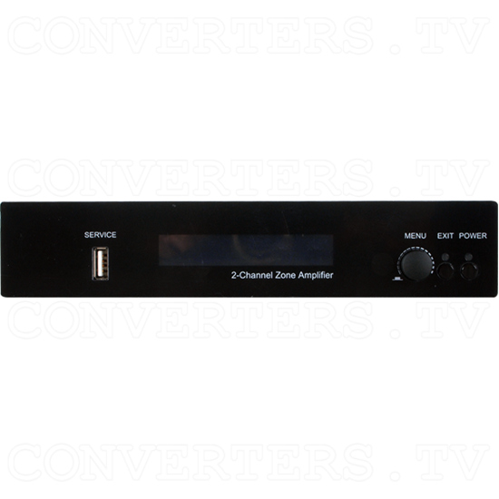 Integrated Zone Amplifier 2 Channel with HDBaseT - Front View