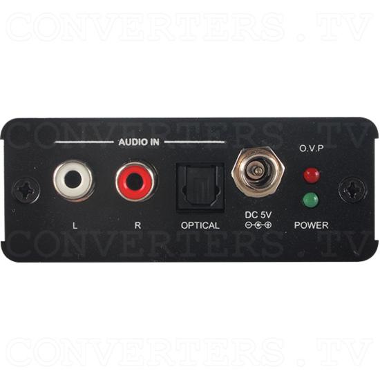HDMI 6G Audio Bridge with Pattern Generator - Back View