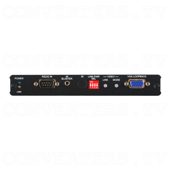 HDMI & VGA Transmitter over IP with USB Connections - Front View