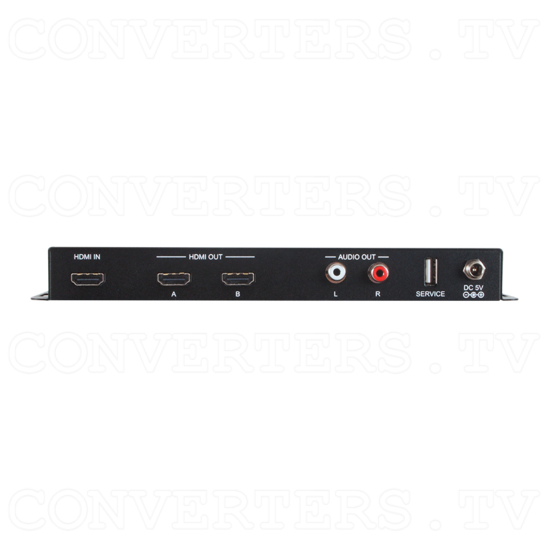 1 In 2 Out UHD 4K2K Splitter Scaler - Back View