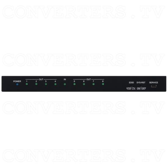 1 x 8 UHD 4K HDMI Splitter - ID#15438 Front View.png