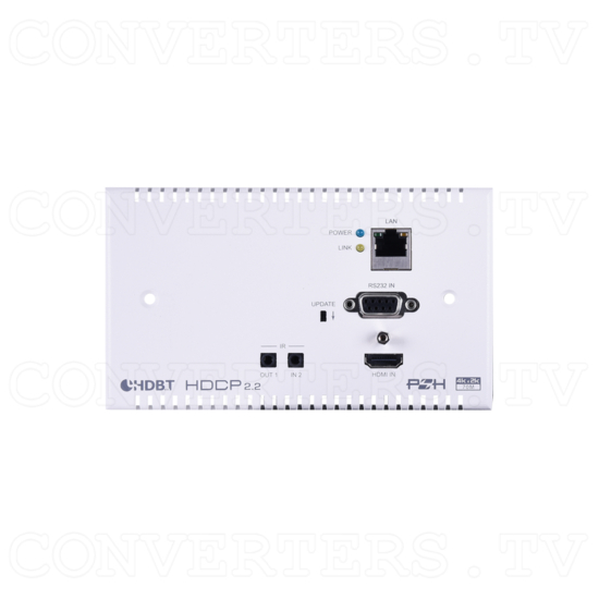 HDMI over HDBaseT Wall-plate Transmitter & Receiver Set w/ LAN, IR, RS-232,PoH - ID#15439 Front View.png