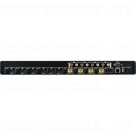 4 HDMI to 4 CAT/2 HDMI Out Video Audio Matrix 40m - Back View