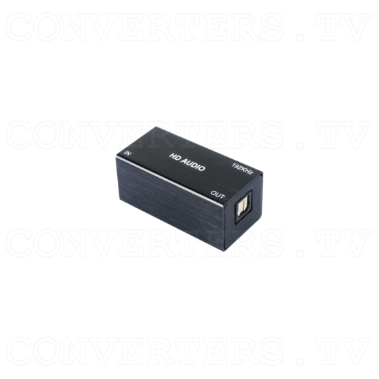 USB PC to Optical Audio Converter (up to 192kHz) - Back View