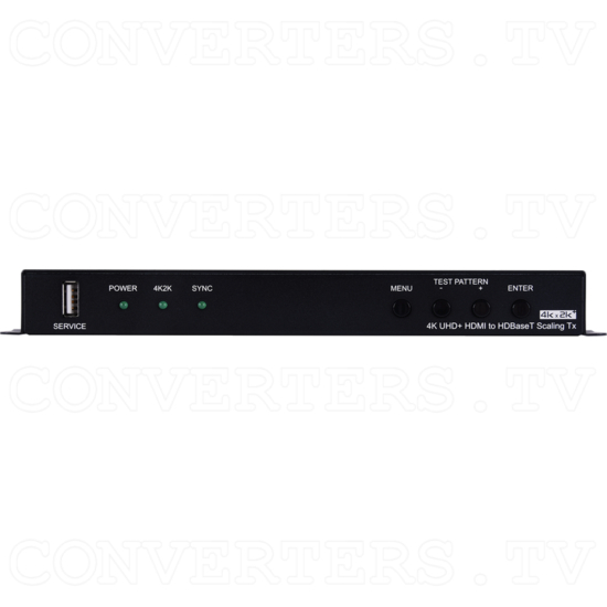 HDMI to HDBaseT Scaler with Audio Output - Front View