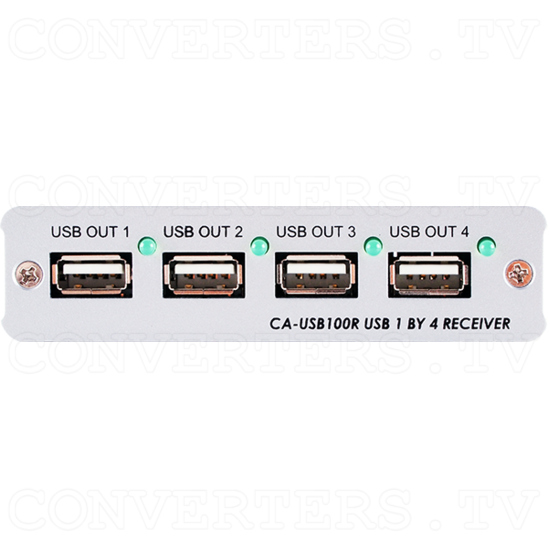 USB over CAT5/6/7 Transmitter and Receiver Box - ID#843 Rx Front View.png