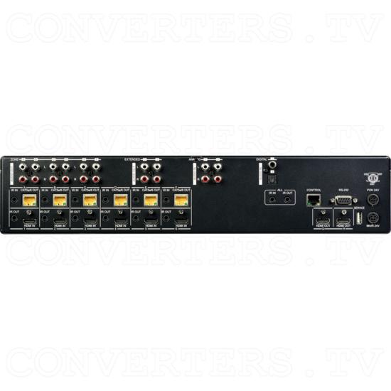 6H + 6CV/2H HDMI to CAT Audio Matrix 60m - Back View