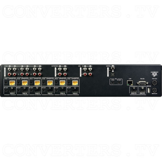 6H + 6CV/2H HDMI to CAT Audio Matrix 100m - Back View