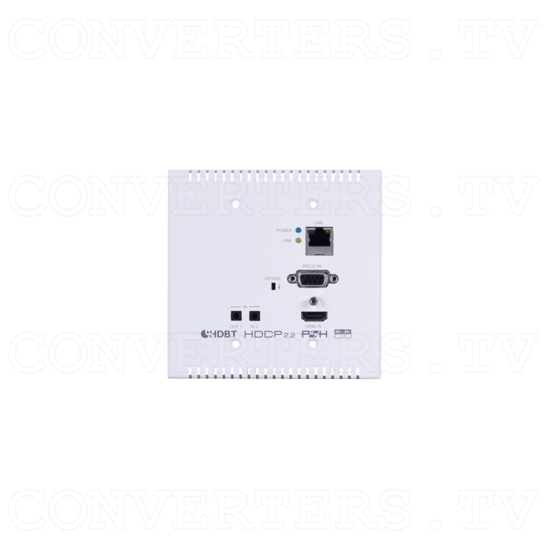 HDMI over HDBaseT Wall-plate Extender Set w/ LAN, IR, RS-232,PoH - ID#15440 Tx Front View.png