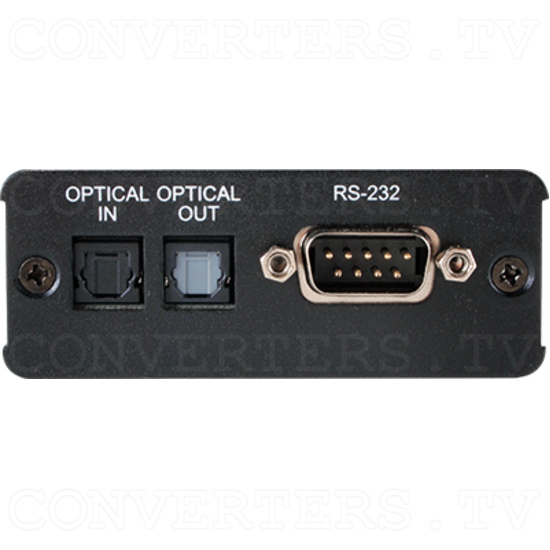 Optical Audio over CAT Cable Receiver w/ RS-232 - ID#15504 Front View.png