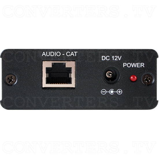 Optical Audio over CAT Cable Receiver w/ RS-232 - ID#15504 Back View.png