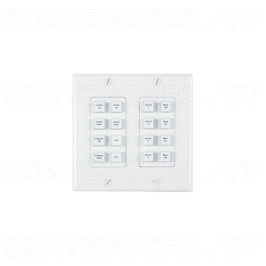 Control Keypad Wall Plate 16 Buttons w/ 48V PoE - ID#15528 Full View.png