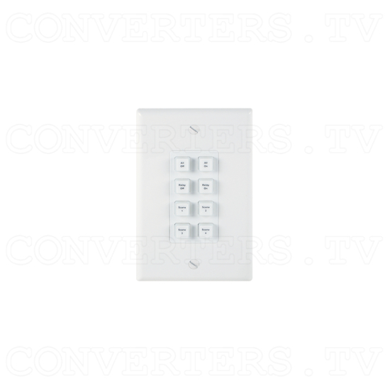 Control Keypad Wall Plate 8 Button w/ 48V PoE - ID#15529 Full View.png