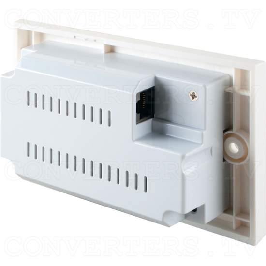 HDBaseT HDMI over CAT5e/6/7 Wallplate Receiver with 24vPoC and LAN Serving - ID#15532 Back View.png