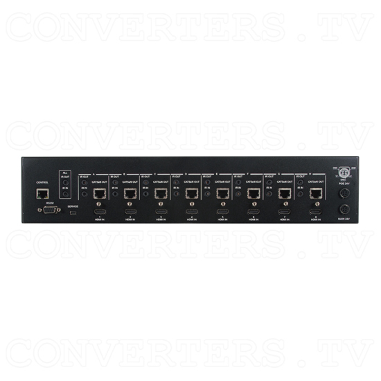 HDBaseT-Lite 8x8 UHD HDMI over CAT5e/6/7 Matrix with 24v PoC HDCP 2.2 - ID#15531 Back View.png