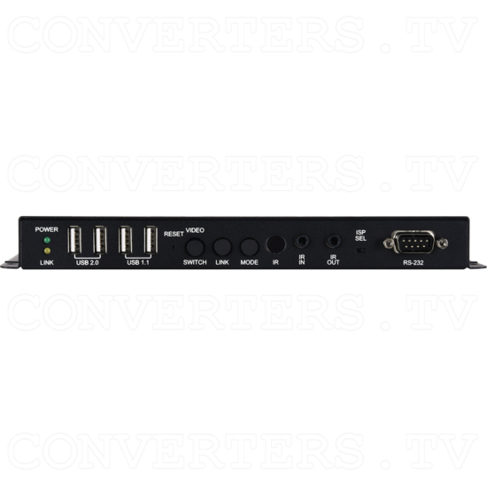HDMI/VGA over IP Extender with USB/LAN Serving - ID#15442 Front View.png