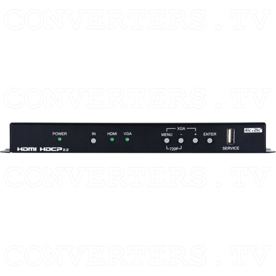 HDMI, VGA and Component Video to 4K UHD+ HDMI Scaler - ID#15479 Front View.png