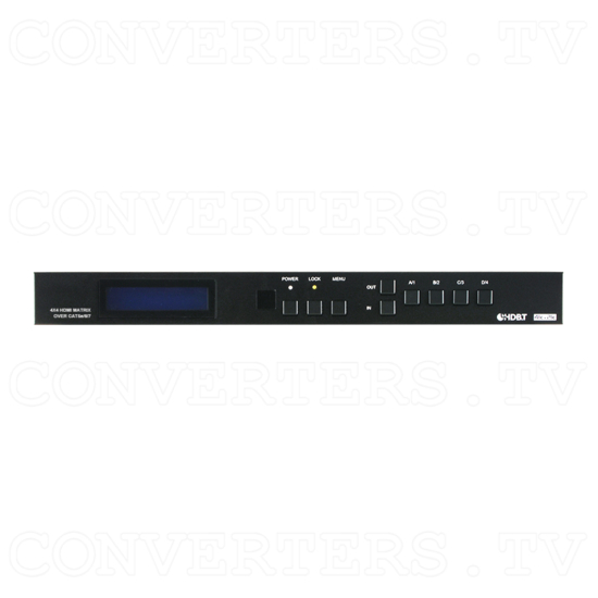 4x4 HDMI 4K over CAT5e/6/7 Matrix with 24v PoC - ID#15535 Front View.png
