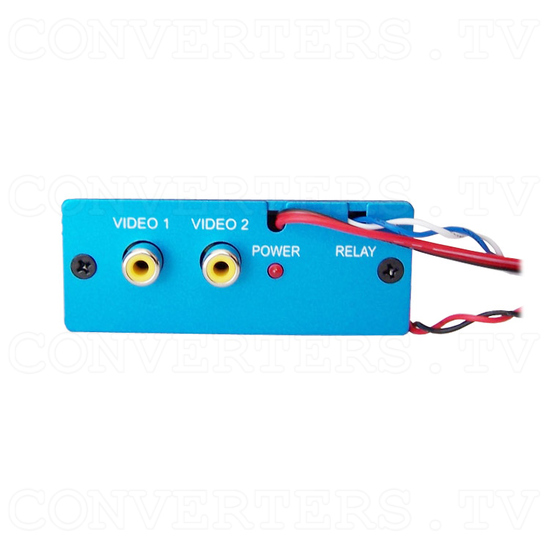 Dual PAL or NTSC Video to RGB Converter - one way - with 12v Relay Switch - Back View