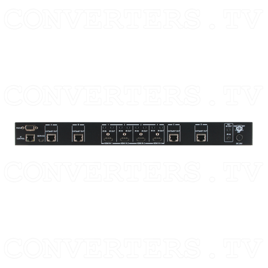 4x4 HDMI 4K over CAT5e/6/7 Matrix with 24v PoC - ID#15535 Back View.png