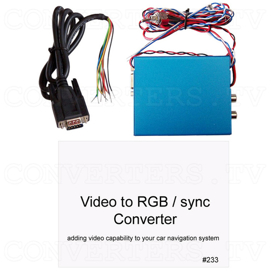 Dual PAL or NTSC Video to RGB Converter - one way - with 12v Relay Switch - Full Kit