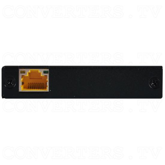 HDMI/USB over CAT5e/6/7 Slimline Receiver with 48v PoH and LAN Serving - HDMI/USB over CAT5e/6/7 Slimline Receiver with 48v PoH and LAN Serving - Back View.png
