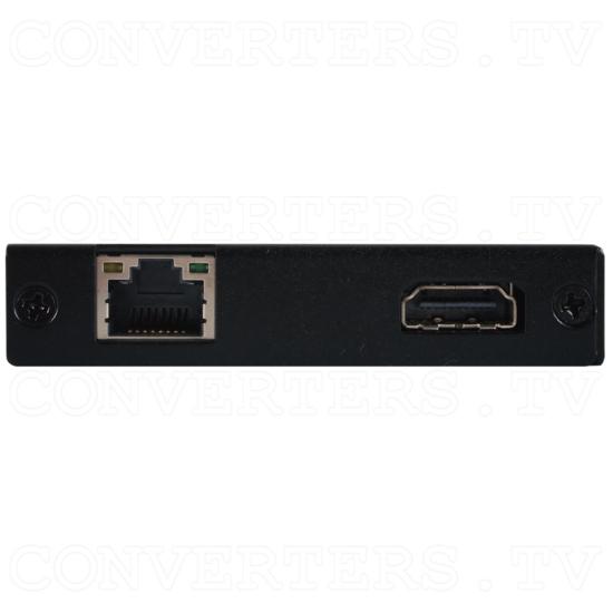 HDMI/USB over CAT5e/6/7 Slimline Receiver with 48v PoH and LAN Serving - HDMI/USB over CAT5e/6/7 Slimline Receiver with 48v PoH and LAN Serving - Side View.png
